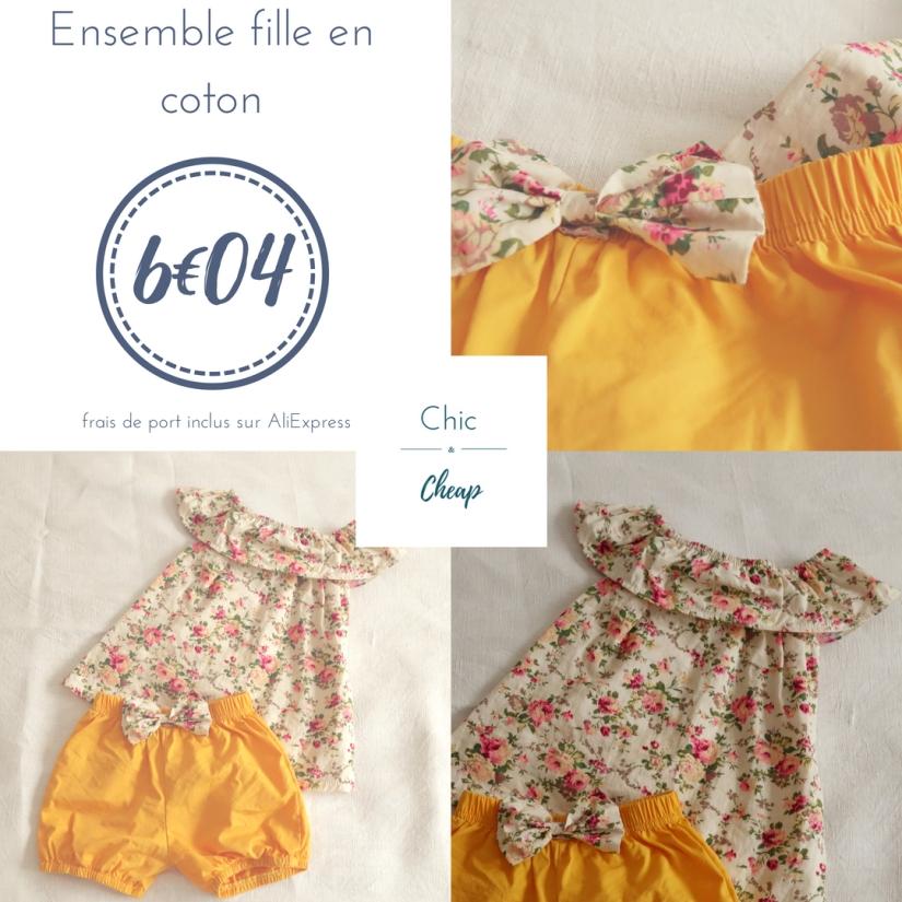 Chic & Cheap blog - ensemble fille coton jaune